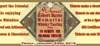 8th Annual Robert Burns Memorial Whisky Tasting