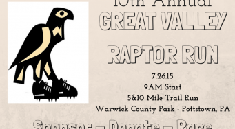 10th Annual Great Valley Raptor Run- 5 and 10 mile Trail Run