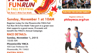Phoenixville YMCA 2nd Annual Fall Run 5K and Fall Festival